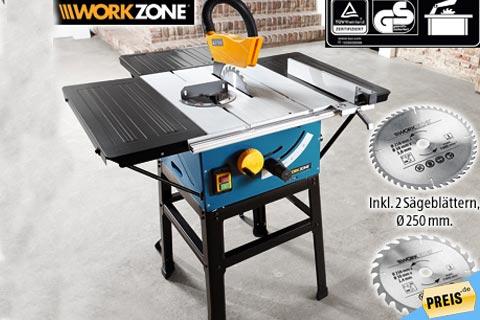 workzone tischkreiss ge f r 99 99 bei aldi s d im september. Black Bedroom Furniture Sets. Home Design Ideas
