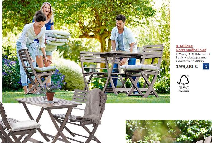 Tchibo Angebote im März 2014 KW 11   Stilvolle Gartenmöbel | Preis